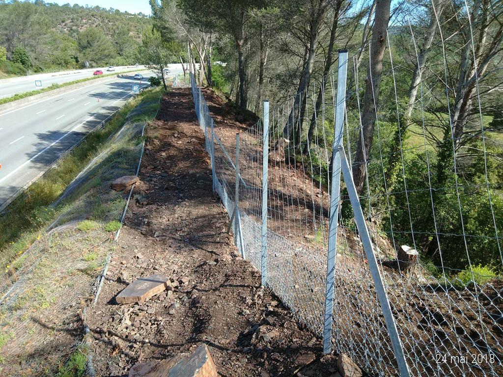 Clôture Escota autoroute A8 - Frejus 2